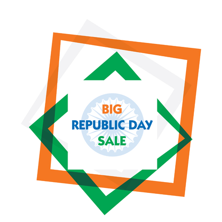 Big Indian republic day sale banner design illustration. Illustration