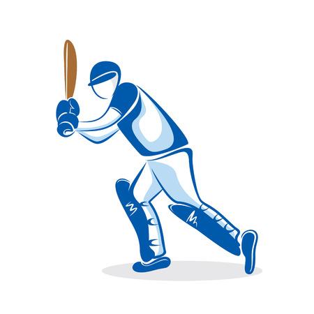 Cricket player hitting big shoot design.