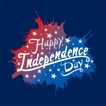 independence day of USA greeting card, national flag design