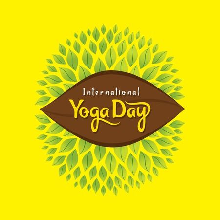 illustration of international yoga day poster design