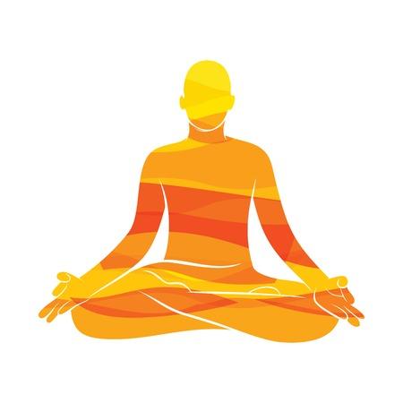 jeunes hommes pratiquent le yoga pose de lotus, conception de concept de méditation