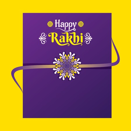 decorative greeting card design Rakhi for Raksha Bandhan festival of india