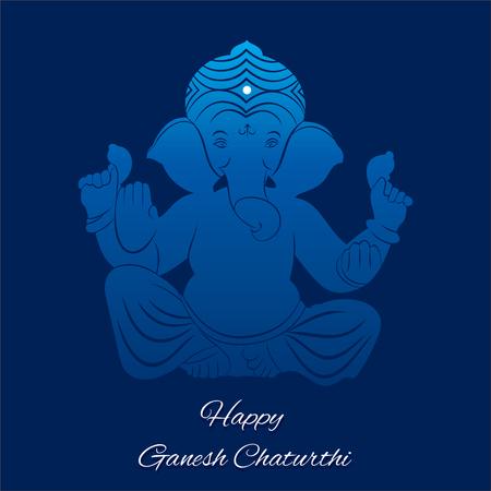 Festival of Ganesh Chaturthi with blue Lord Ganesha
