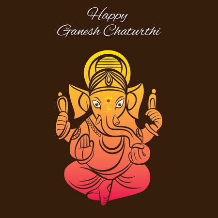 creative vector illustration of lord ganesha design, ganesh chaturthi festival
