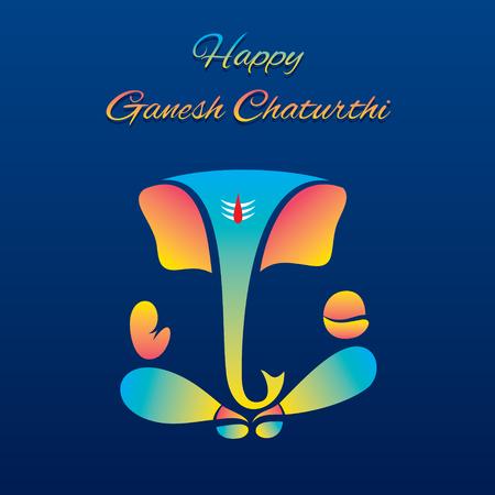 creative vector illustration of lord ganesha design, ganesh chaturthi festival