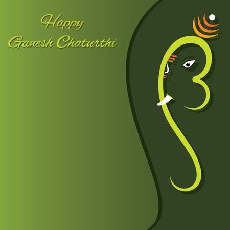 creative vector illustration of lord ganesha design, ganesh chaturthi festival Vector Illustration