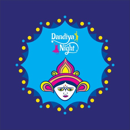 Celebrate navratri festival with dancing garba design vector illustration. Illustration