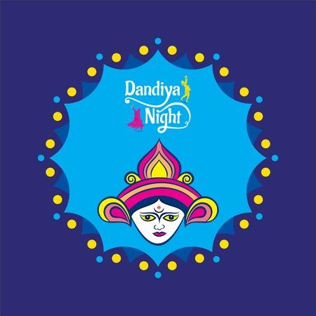 Celebrate navratri festival with dancing garba design vector illustration. Illustration