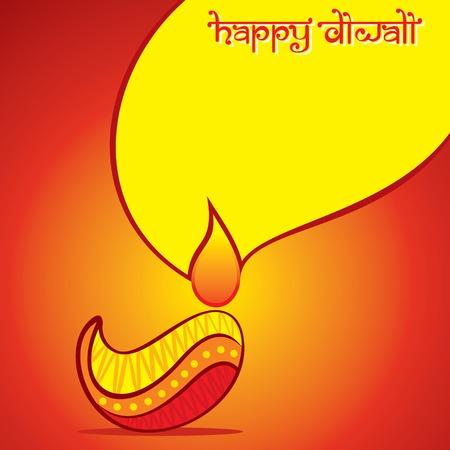 abstract artistic diya for Happy Diwali holiday of India poster design