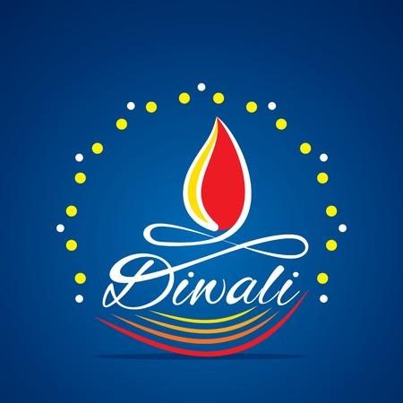 creative diya by happy diwali festival greeting design