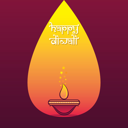 creative decorated diya for Happy Diwali holiday of India poster design