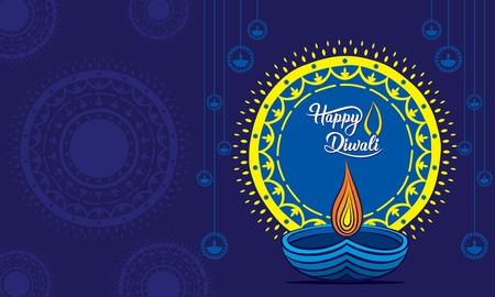 creative traditional design, happy diwali festival greeting or poster design, festival of light