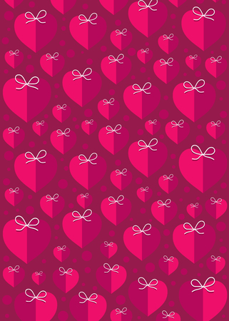 creative pink heart shape pattern background design vector