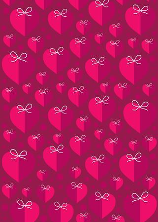 creative pink heart shape pattern background design vector