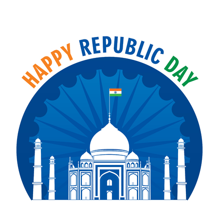 happy independence day of india illustration vector, poster design