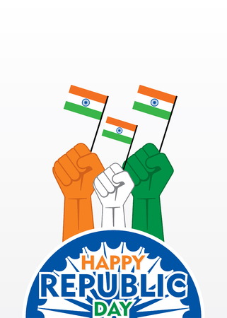 happy independence day of india illustration vector, show unity concept design