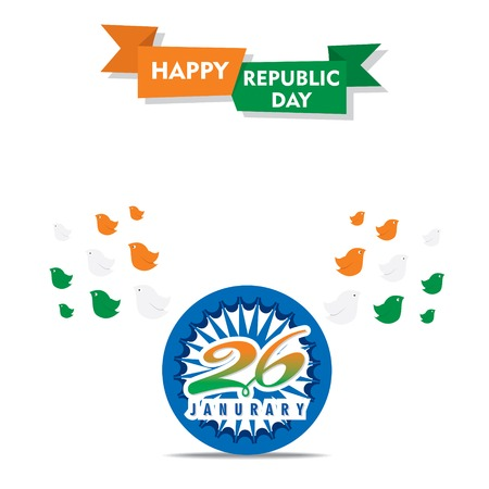 happy independence day of india illustration vector, using flying bird design