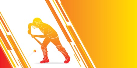illustration of team playing cricket sports poster design Vector