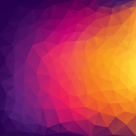 vector de diseño de fondo de patrón triangular abstracto colorido Ilustración de vector