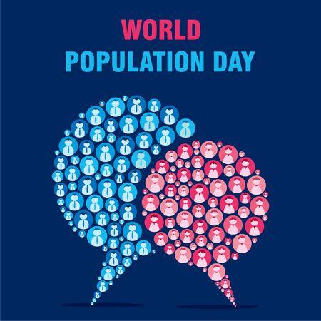 creative poster of world population day design 일러스트