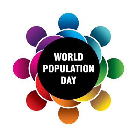 creative poster of world population day design Illustration