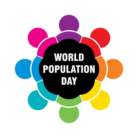 creative colorful poster of world population day design