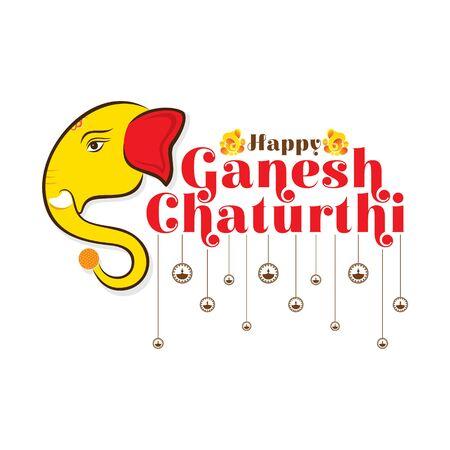 illustration of Ganesh Chaturthi festival of india banner concept design