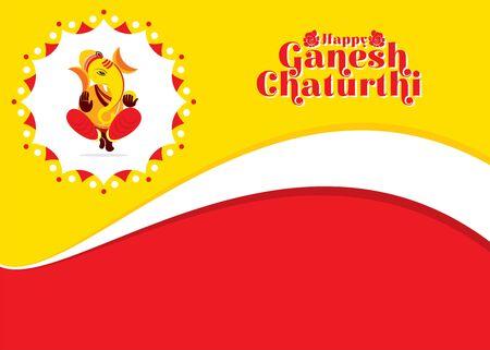 ilustracja projektu koncepcyjnego banera lub plakatu festiwalu Ganesh Chaturthi w Indiach