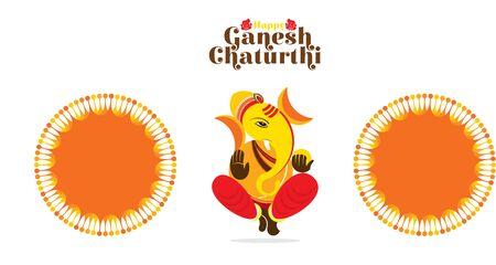 illustration of Ganesh Chaturthi festival of india banner concept design Vector Illustration