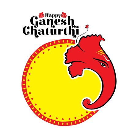 illustration of Ganesh Chaturthi festival of india banner concept design