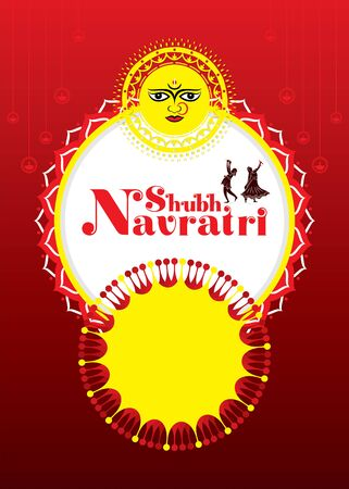 Indian Religion navratri Festival or Durga Puja, festival sale business banner design