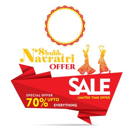 creative business advertisement navratri festival banner design concept Illustration