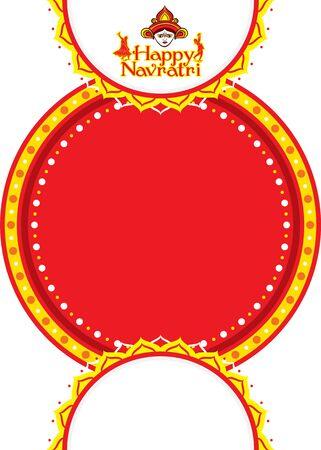 Indian Religion navratri Festival or Durga Puja, festival sale business banner design