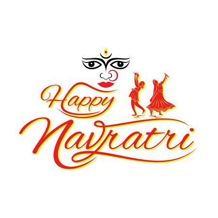 Happy Navratri festival Celebration Poster design