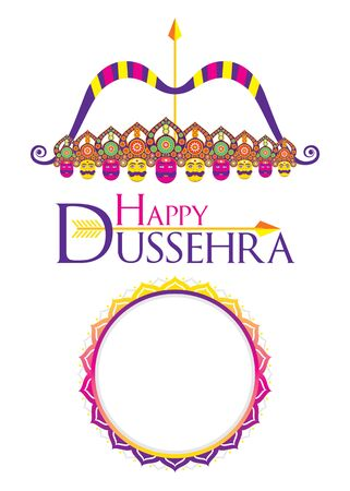 vijayadashami or Dussehra is a major Hindu festival celebration poster and write your text brand or company name concept design