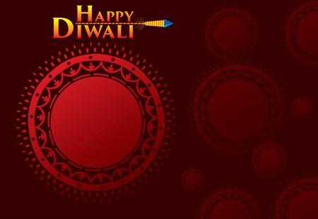 diseño tradicional creativo, saludo del festival de diwali feliz o diseño de carteles de promoción empresarial, festival de la luz Ilustración de vector