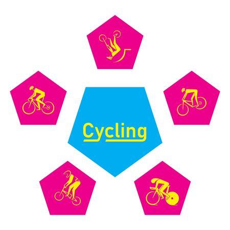 Summer  sport icons set design. Ilustração