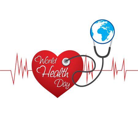 vector illustration of world health day concept design