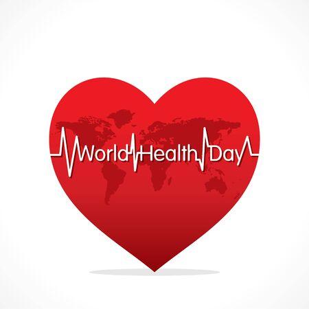 vector illustration of world health day concept design Ilustrace