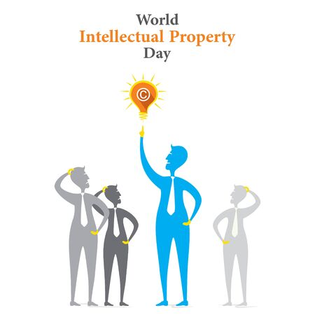 World Intellectual Property Day poster design. Vector illustration background.