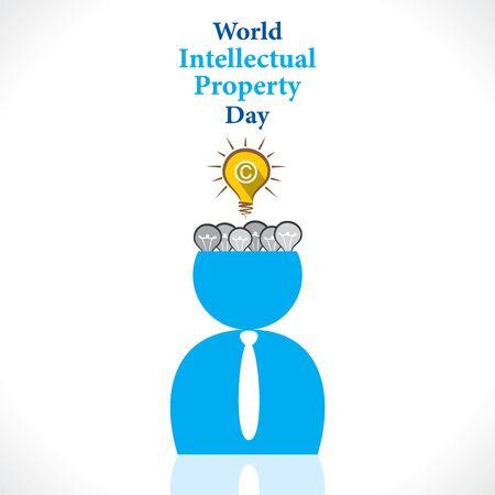 World Intellectual Property Day poster design. 版權商用圖片 - 145205611