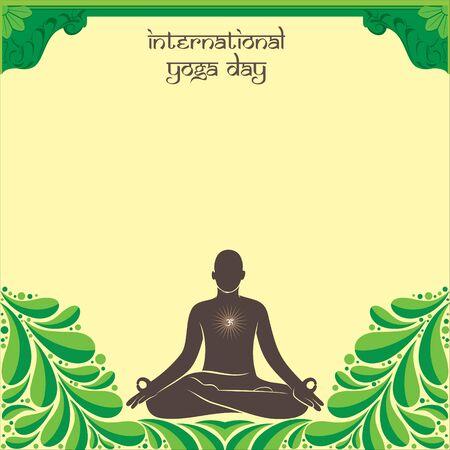 Illustration of international yoga day
