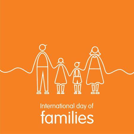 International day of families day illustration vector design Vektorové ilustrace