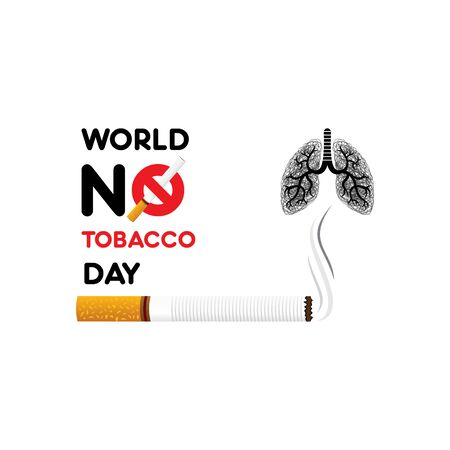 vector illustration world no tobacco day, which is celebrate on 31 may