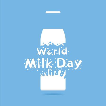 world milk day greeting or banner design. celebrate on 1 june every year