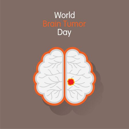 World Brain Tumor Day Vector Illustration. use for greeting card, poster and banner.