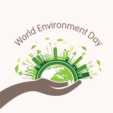 Creative vector illustration of world environment day banner design