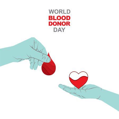 vector illustration of donate blood concept, world blood donor day Vektorové ilustrace
