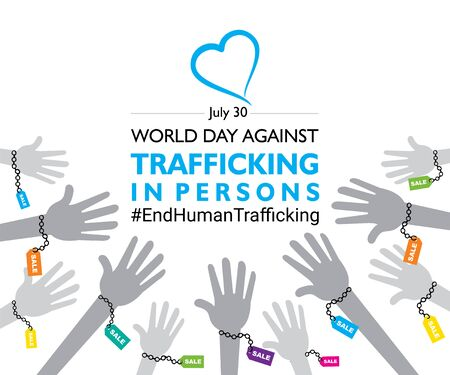 vector illustration of World Day Against Trafficking in Persons poster or banner design Ilustração