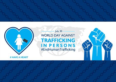 vector illustration of World Day Against Trafficking in Persons poster or banner design